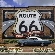 Pontiac Mural Route 66