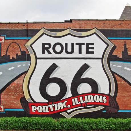Route-66-Wandbild in Pontiac