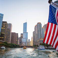 Stadtblick vom Chicago River