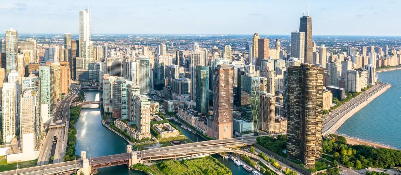 Luftansicht von Chicago