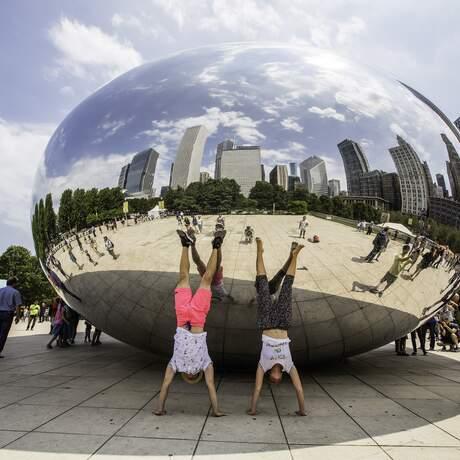 Cloud Gate im Millenium Park von Chicago