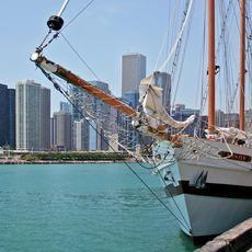 Segelschiff Windy im Hafen von Chicago