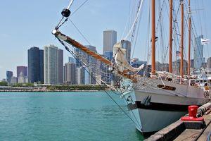 Hafen von Chicago, Illinois, USA