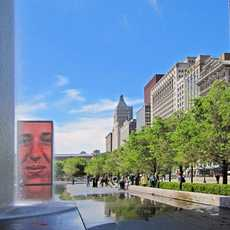 Crown Fountain im Millenium Park