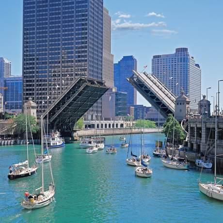 Klappbruecke am Chicago River