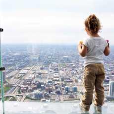 Auf dem Skydeck des Willis Tower