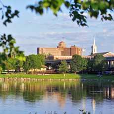 Blick auf den Rock River in Rockford