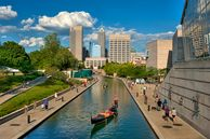 Central Canal in Downtown Indianapolis, Indiana, USA