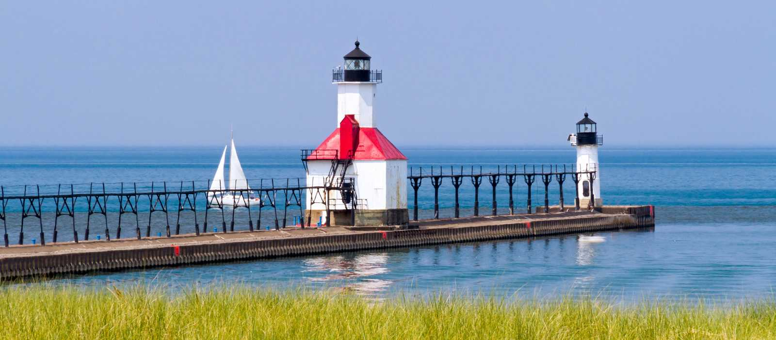 Leuchttürme am St. Joseph North Pier, Michigan