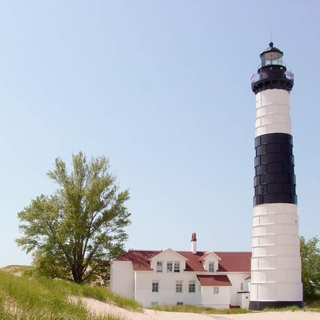 Big Sable Point Light in am Lake Michigan