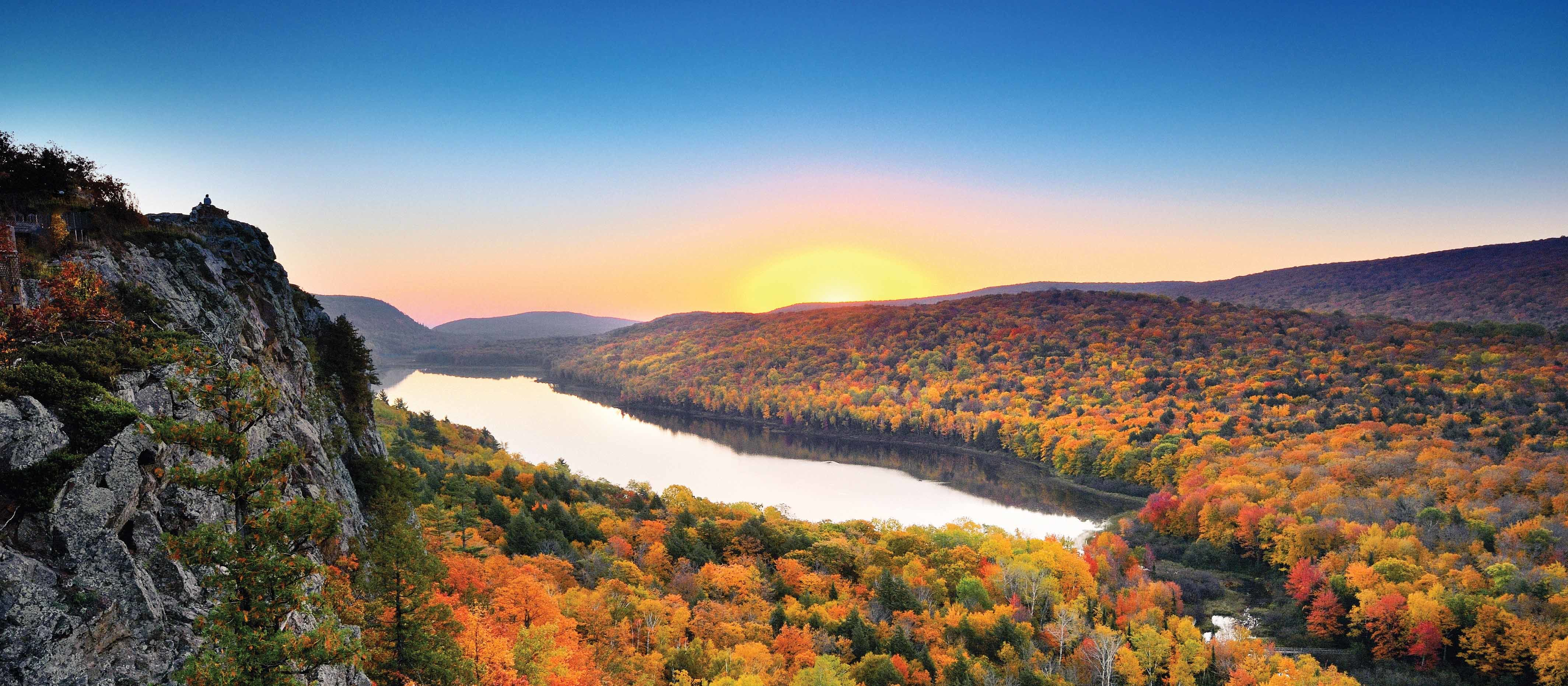 Lake of the Clouds in US-Bundesstaat Michigan im Herbst