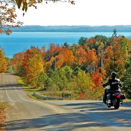 Unterwegs auf dem M-22 Scenic Drive ueber die Leelanau Peninsula
