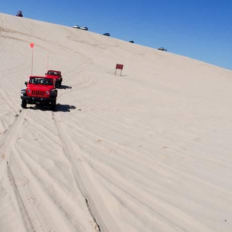 Mit dem Jeep durch die Silver Lakes Sanddünen
