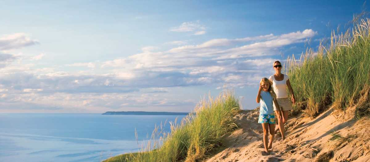 Spaziergang im Sleeping Bear Dunes National Lakeshore