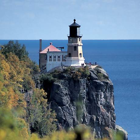 13. Split Rock Lighthouse, Two Harbors. In the early years of the 20th century iron ore shipments on Lake Superior doubled and redoubled, and the demand for a new lighthouse on the lakeÕs inhospitable North Shore was not surprising. A particularly violent gale in 1905 raged for two days, claiming 215 lives and damaging 29 vessels. Thus, the pressure for a lighthouse prompted the U.S. Congress to authorize construction of Split Rock. In 1969 modern navigational equipment rendered the lighthouse obsolete, but the landmark was soon added to the nearby state park. Today, Split Rock Lighthouse is one of MinnesotaÕs most photographed scenes, and tours are available of the lighthouse and the keeperÕs home.