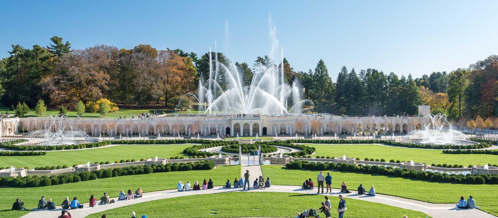 Der botanische Garten Longwood Gardens in Kennett Square, Pennsylvania