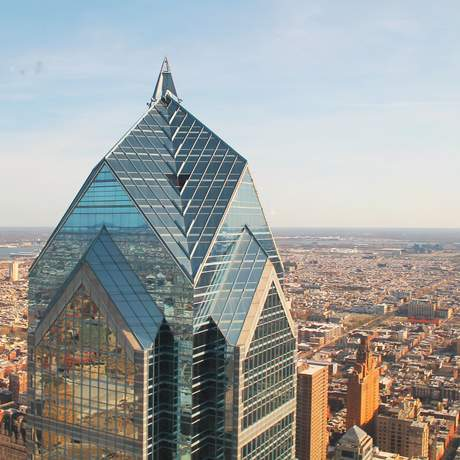 Blick auf Philadelphia und den Liberty Place Turm, Pennsylvania
