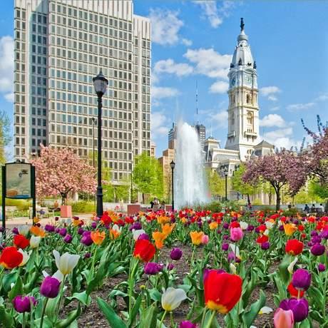 Blick auf die City Hall von Philadelphia