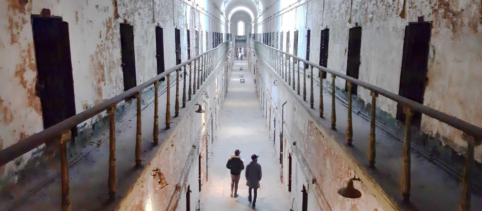 Innenansicht der Strafanstalt Eastern State Penitentiary