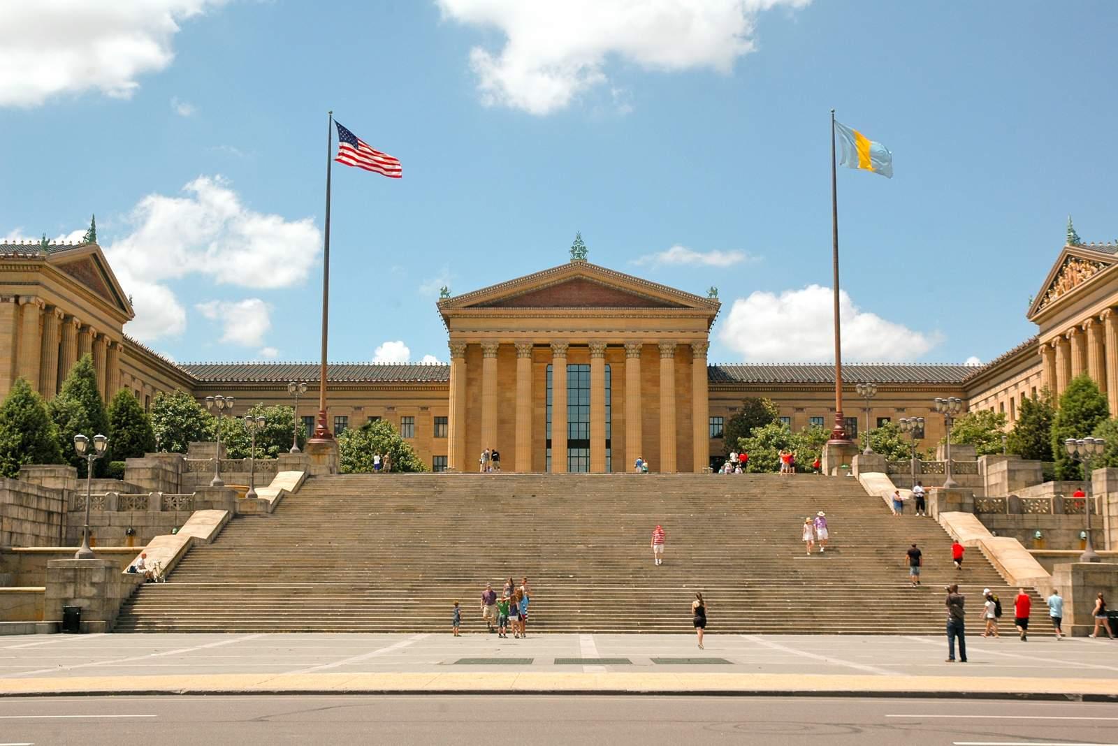 Die Rocky Steps vor dem Museum of Art Philadelphia
