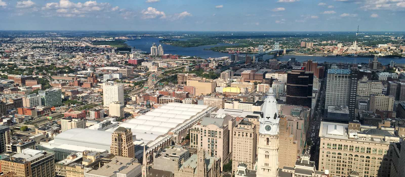 Blick über Philadelphia