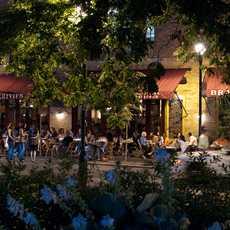 Das Parc Restaurant am Rittenhouse Square in Philadelphia, USA