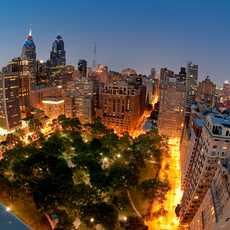 Blick auf den Rittenhouse Square in Philadelphia