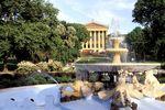 Springbrunnen vor dem Museum of Arts in Philadelphia