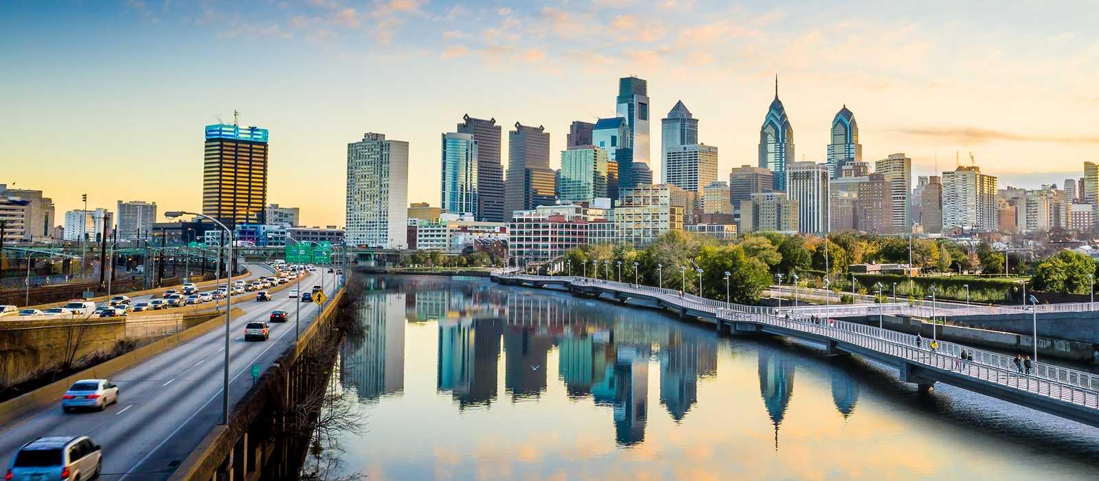 Die Skyline von Philadelphia
