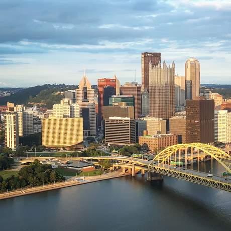 Die Skyline von Pittsburgh