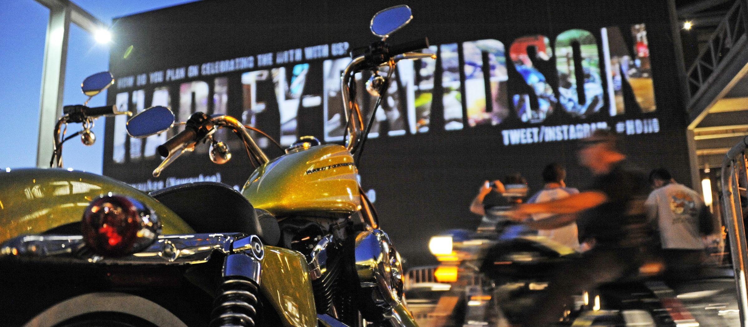 Ausstellung im Harley Davidson Motor Company Museum in Milwaukee in Wisconsin
