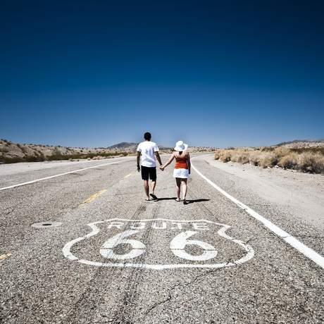 Pärchen auf der Route 66