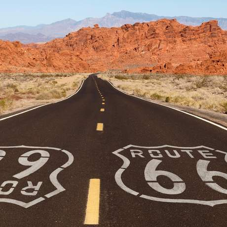 Route 66 in der Mojave Wüste