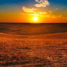 Sonnenuntergang, Flint Hills, Kansas