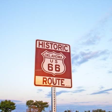 Route 66 Schild in OKlahoma
