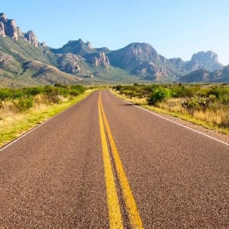 Strasse zum Big Bend National Park