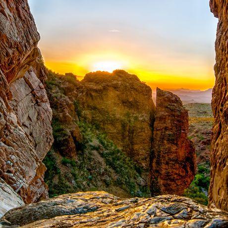 Sonnenuntergang im Window Pour Off Trail, Texas