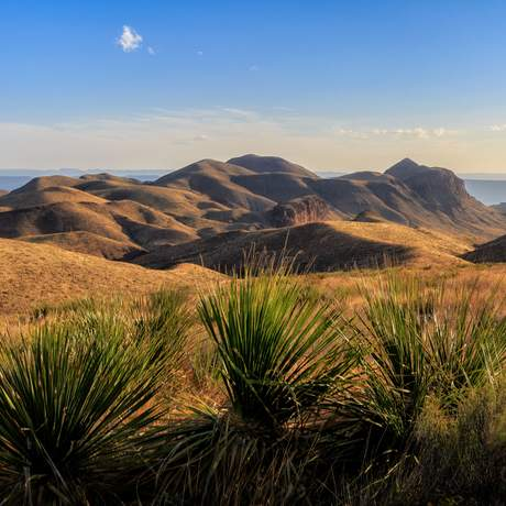 Atemberaubende Landschaft des Big-Bend-Nationalparks in Texas