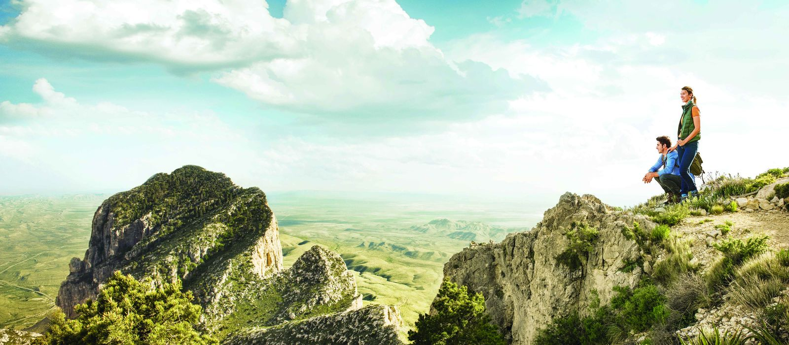 Wandern im Guadalupe Mountains Nationalpark in Texas