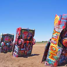 Kunstinstallation Cadillac Ranch