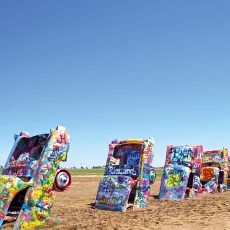 Cadillac Ranch bei Amarillo
