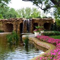 Der Dallas Arboretum and Botanical Garden in Dallas