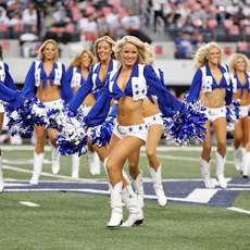 Cheerleader der Dallas Cowboys