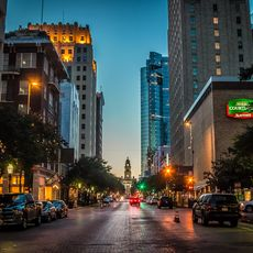 Fort Worth Downtown bei Nacht