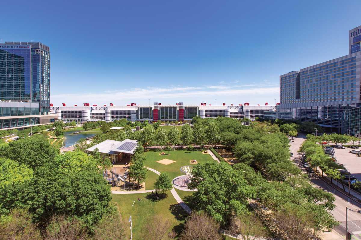 Das George R. Brown Convention Center in Houston Downtown