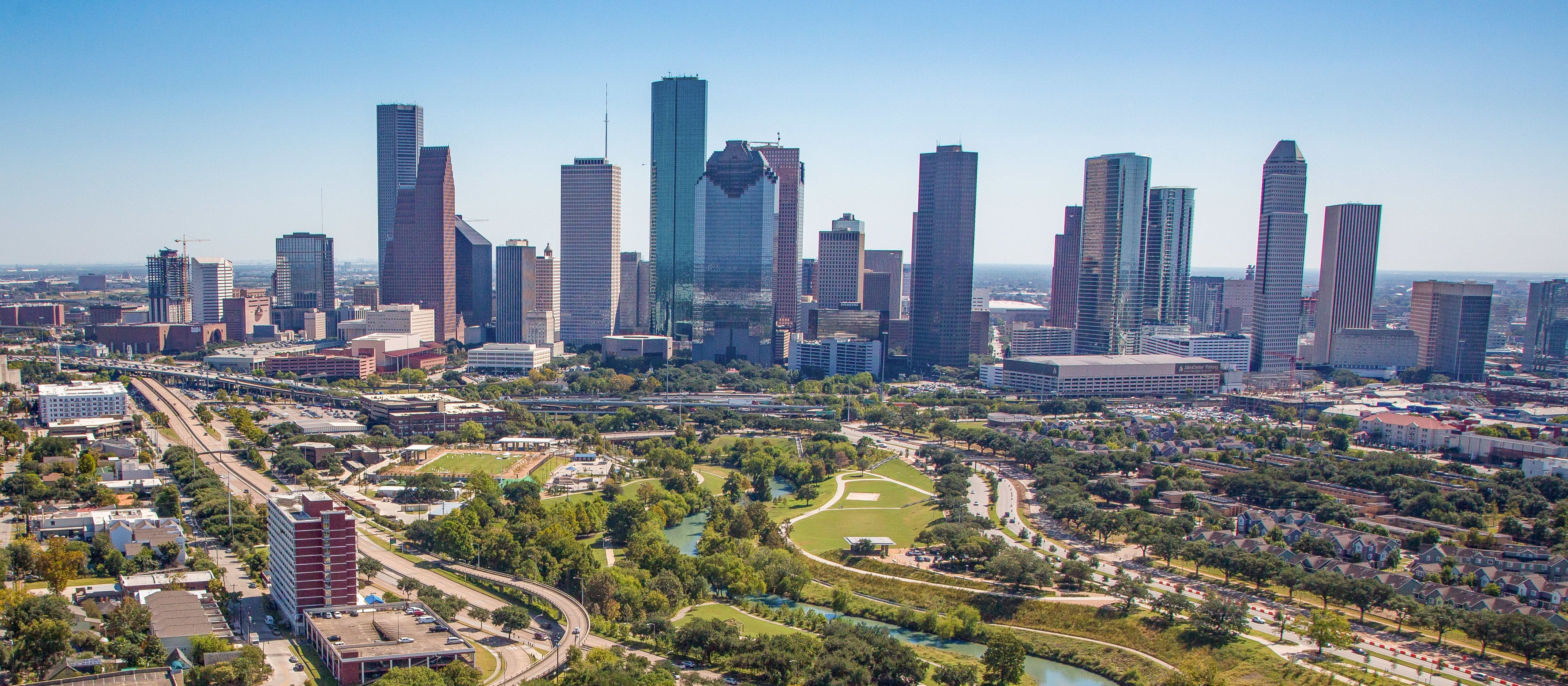 Die Skyline von Houston