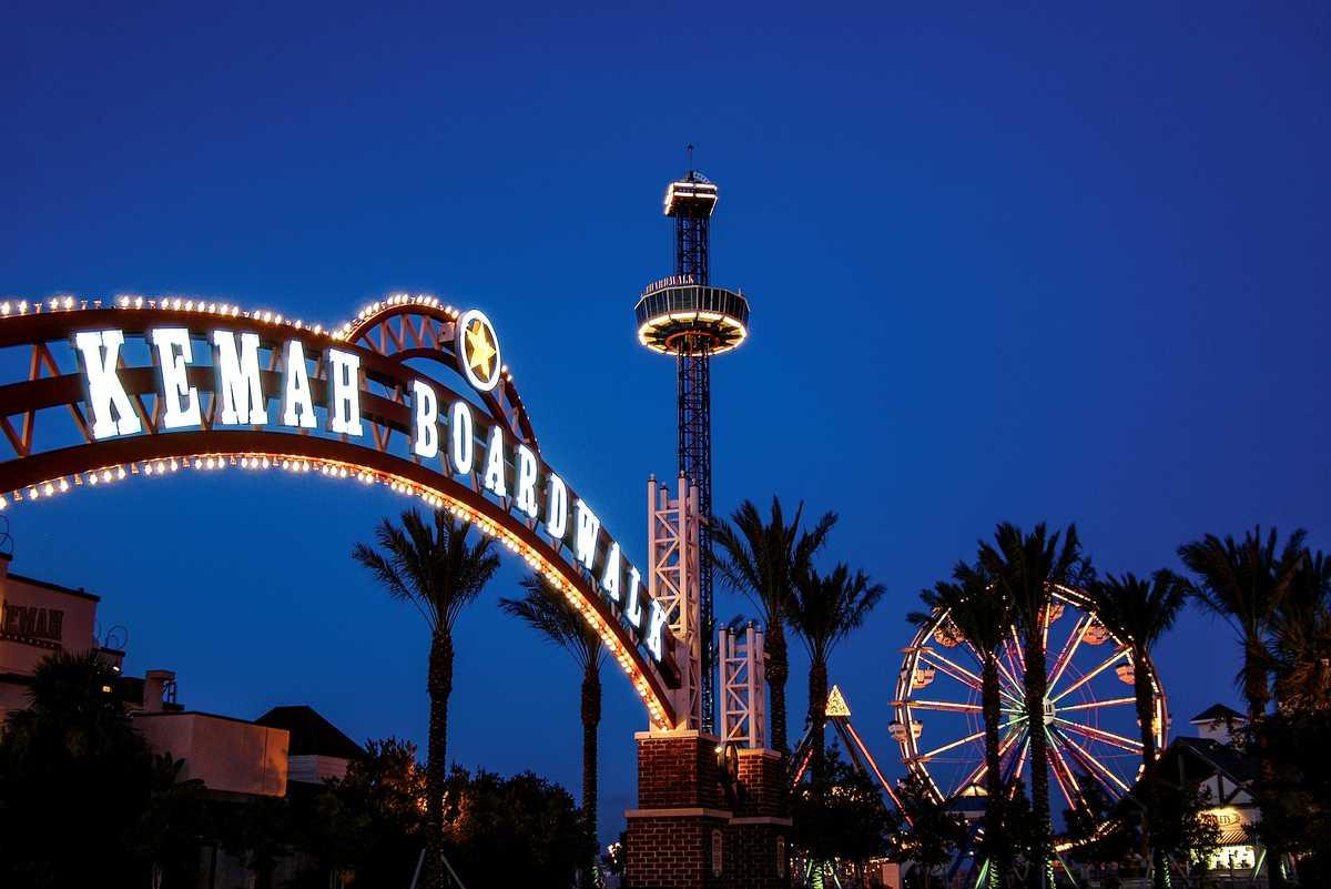 Der Kemah Boardwalk ist ein Themenpark an der Golfküste von Texas