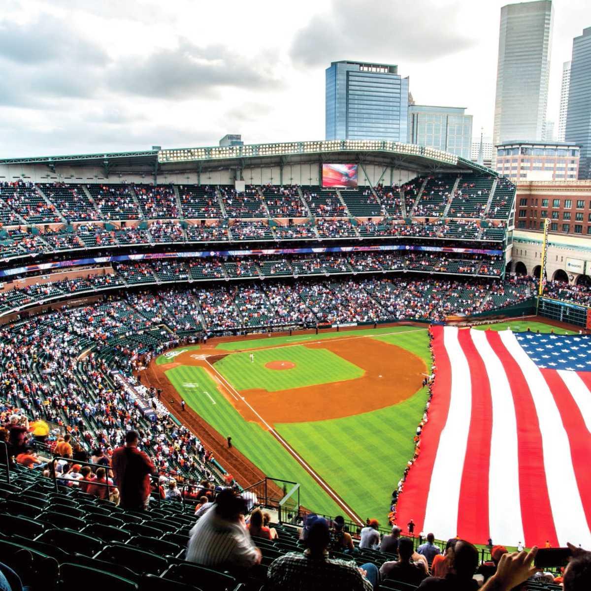 Impressionen des Minute Maid Park Baseballstadions in Houston im US-Bundesstaat Texas