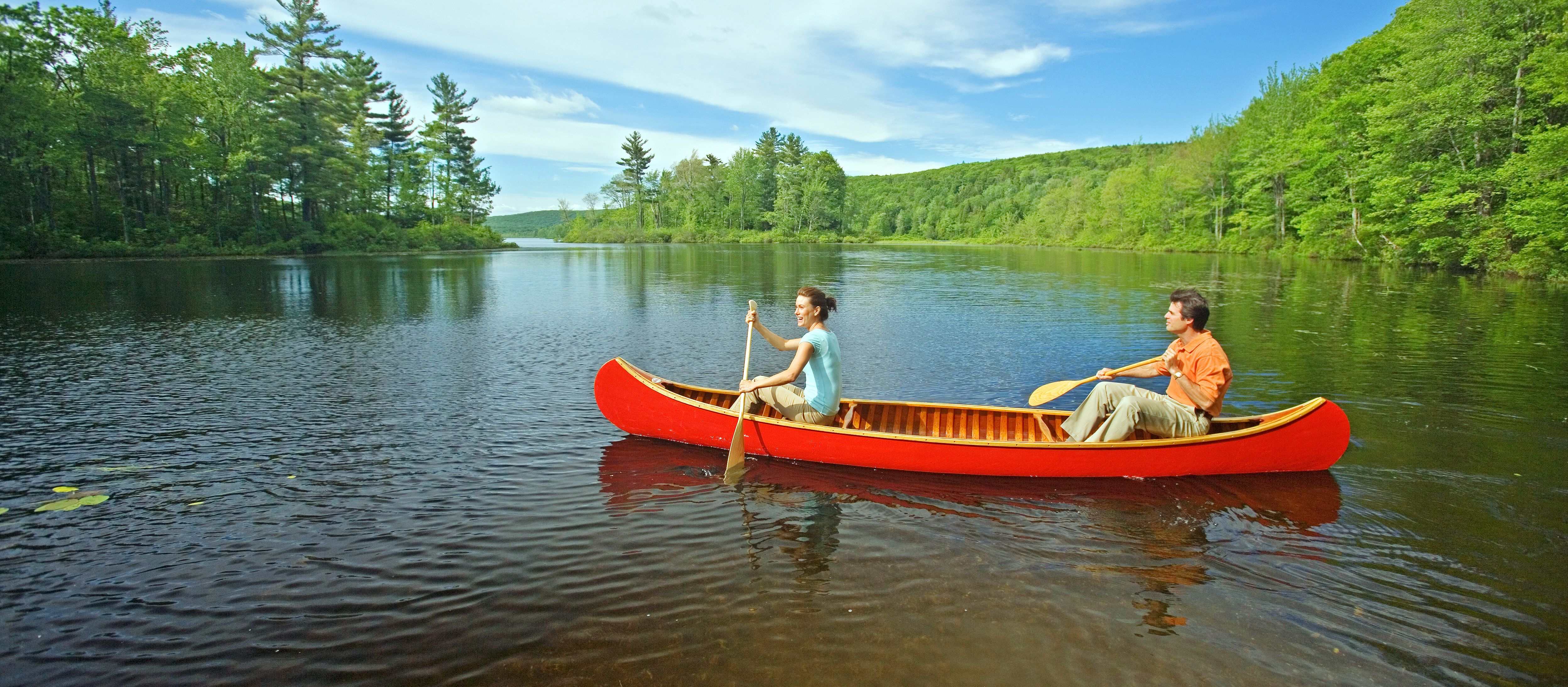 Kanutour auf dem Wood Creek Pond