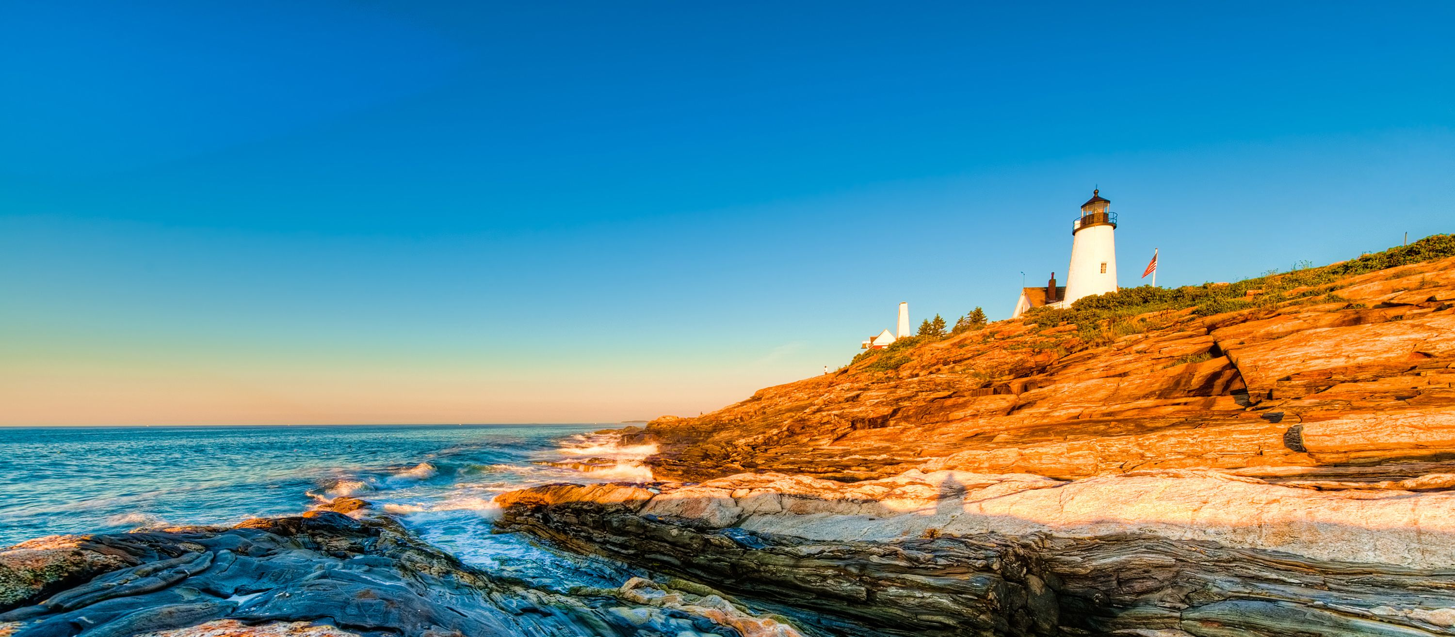 Sonnenaufgang am Pemaquid Point Lighthouse, Maine